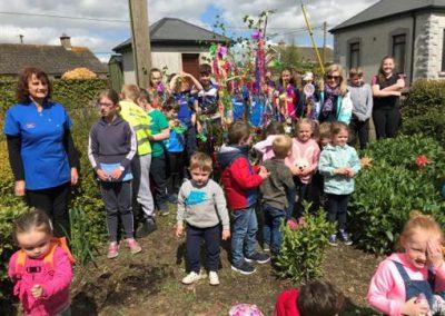 Children taking part in Ferns Tidy Towns activities