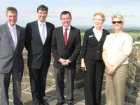 Minister Visits Ferns Castle