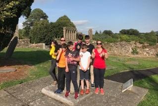 Locals at Diarmait Mac Murroughs grave